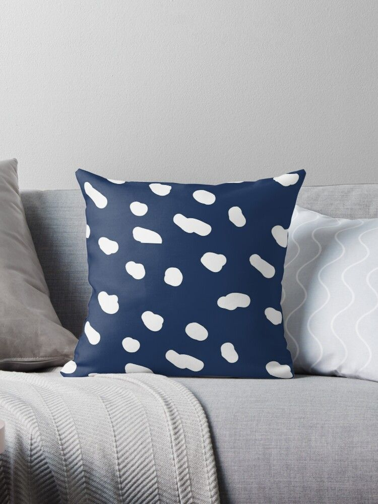 Abstract Cute Cloud Pattern Throw Pillow Patterned Throw Pillows Designer Throw Pillows Clouds Pattern