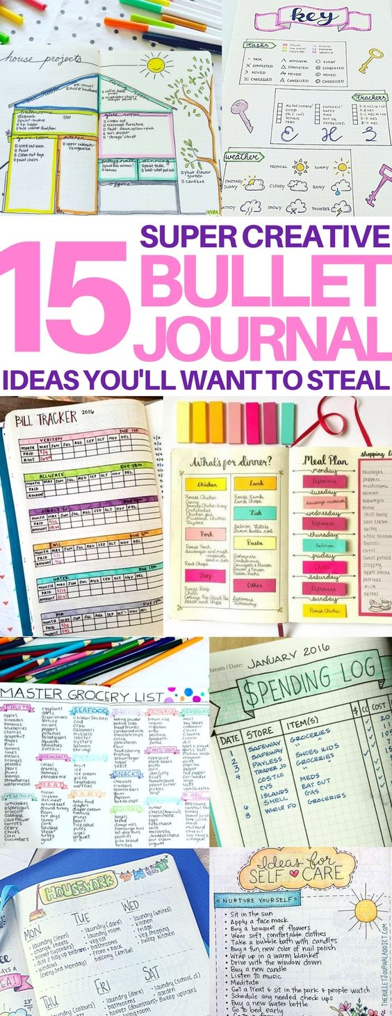 15+ Brilliant Bullet Journal Ideas You'll Want to Steal | Bullet ...