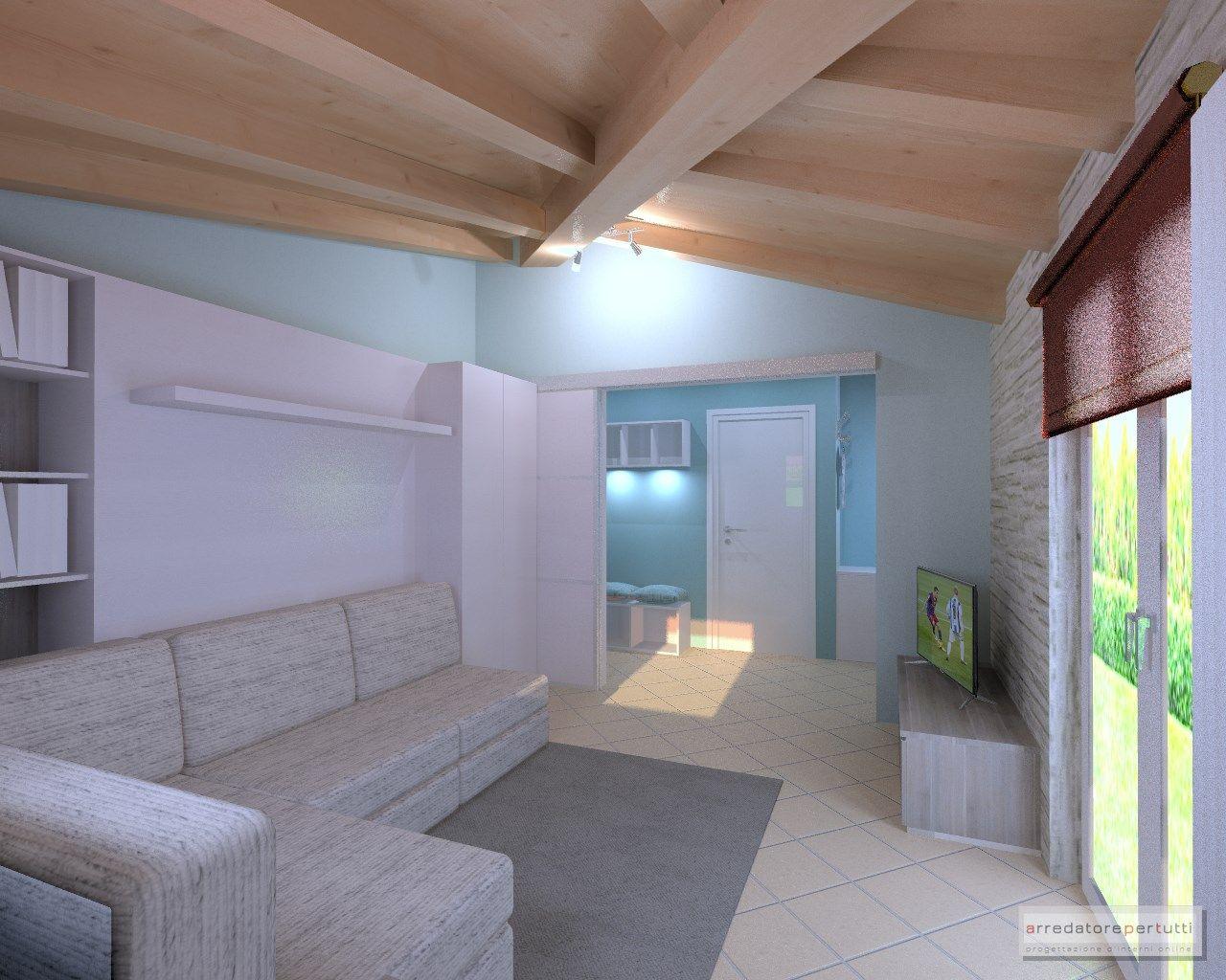 Chiudere Un Terrazzo In Muratura un progetto per creare in un open space un soggiorno che di