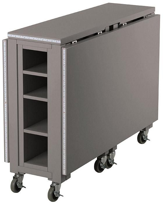 Fold Down Roll Away Craft Table Need This For My Sewing Machine Has Storage To Small Craft Rooms Ikea Folding Table