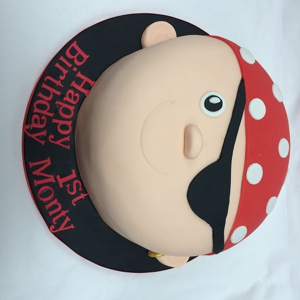 Pirate Face Birthday Cake Birthdaycake Cake Blueribbons Cake