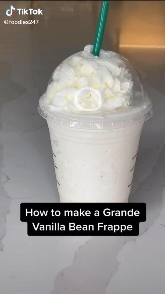 Vanilla Frappe In 2020 Starbucks Recipes Starbucks Drinks Recipes Yummy Food Dessert