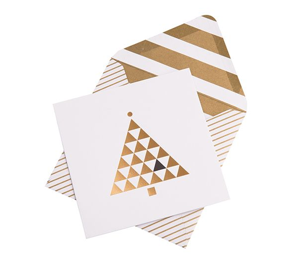 Celebrate christmas with this stylish greeting card with a simple celebrate christmas with this stylish greeting card with a simple white and gold theme m4hsunfo