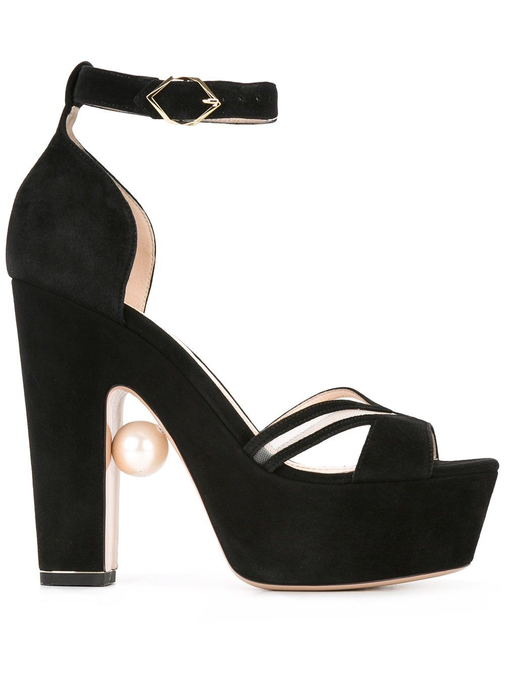 Maya Pearl Platform Sandals 120mm - Black Nicholas Kirkwood Sale Collections Fast Delivery Cheap Online hRPNkW5