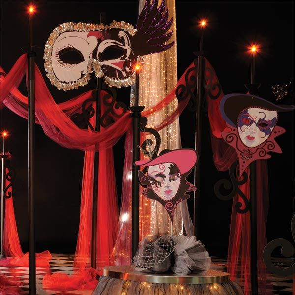 Whos Behind That Mask Kit Set Of 5 Masquerade ThemeProm Themes35th