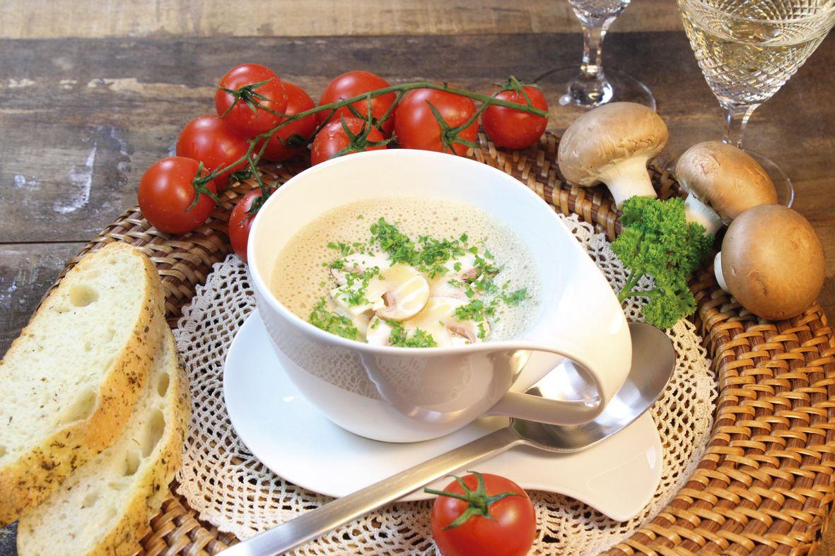 Champignon-Cremesuppe: Eine köstliche Suppe für jede Jahreszeit und zu jeder Gelegenheit.