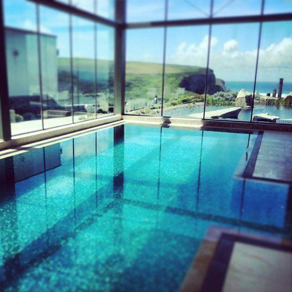 Indoor pool at the scarlet uk pools cornwall hotels cornwall spa for Cornwall hotels with swimming pools