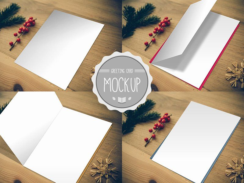 Photoshop Greeting Card Template Luxury Greeting Card Mockup Psd Templates By Cursive Q Desig In 2020 Birthday Card Template Greeting Card Template Free Greeting Cards