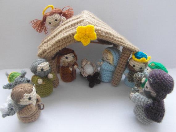Amigurumi Navidad Nacimiento : Amigurumi nativity scene crochet pattern pdf instructions