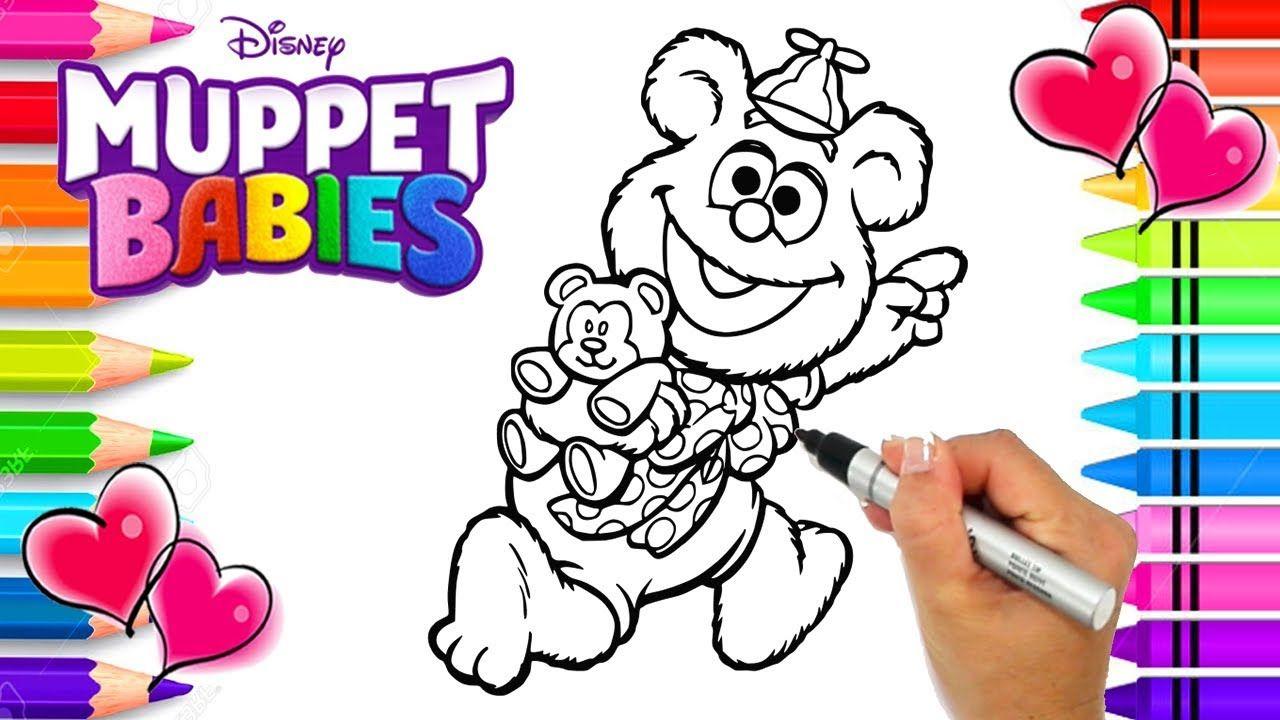 Disney Jr. Muppet Babies Fozzie Coloring Page Muppet