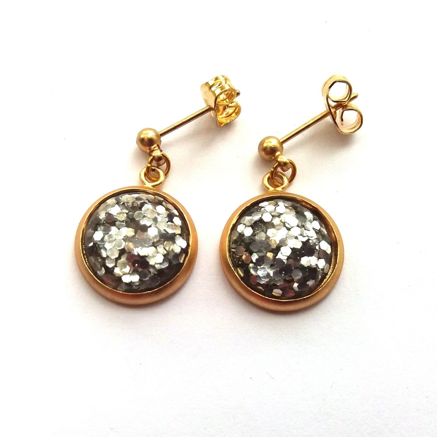 lucky gold lady chance fox product matte web earrings