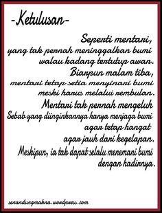 Ketulusan Mentari Matahari Quotes Puisi Indonesia Dengan