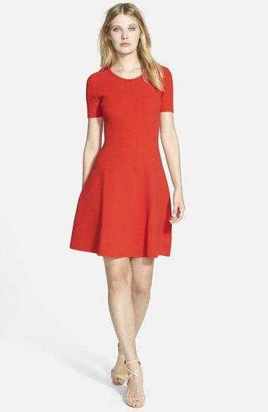 BOSS HUGO BOSS BOSS 'Fleala' Knit Fit & Flare Dress available at #Nordstrom