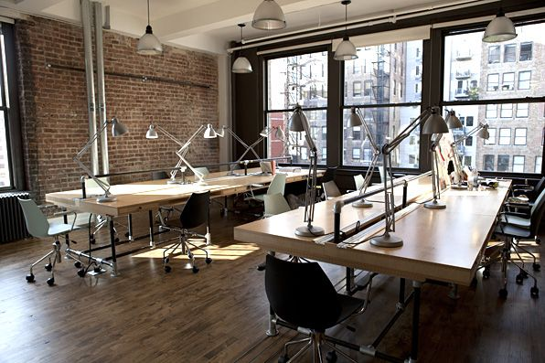 Cool summer co working space at products of design nyc Coworking space design ideas
