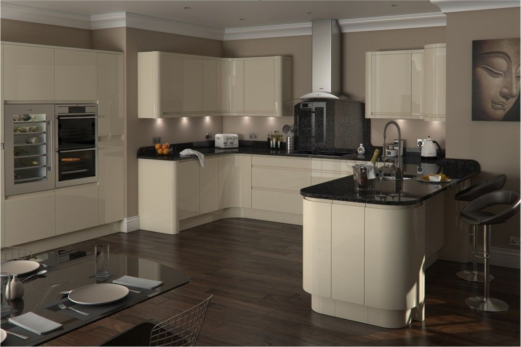 Image Result For Cream Gloss Handleless Kitchen Part 43