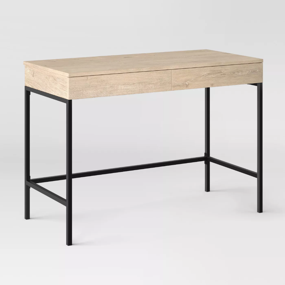 Loring Wood Writing Desk With Drawers Project 62 In 2020 Writing Desk With Drawers Vintage Writing Desk Desk With Drawers