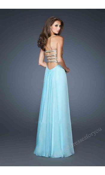 Sleeveless Tube Long Black Prom Dress Perfect2812