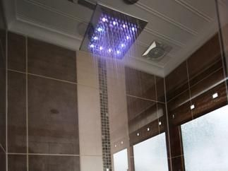 Family bathroom shower