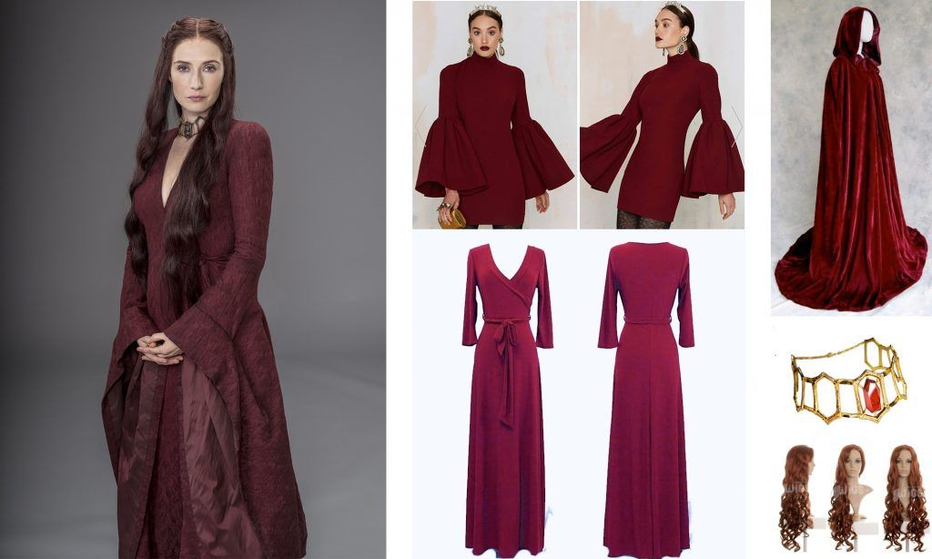 Game of Thrones The Red Woman Melisandre Dress Costume Halloween Costume Custom
