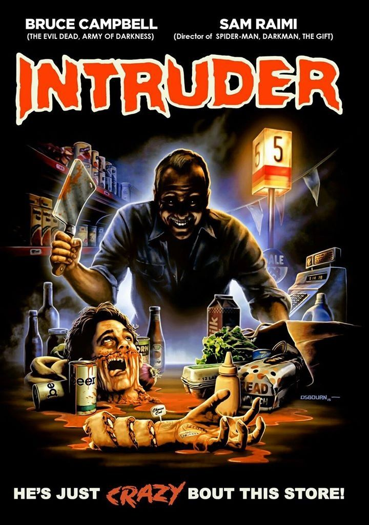 Horror movie poster art intruder 1989 by camw1n horror
