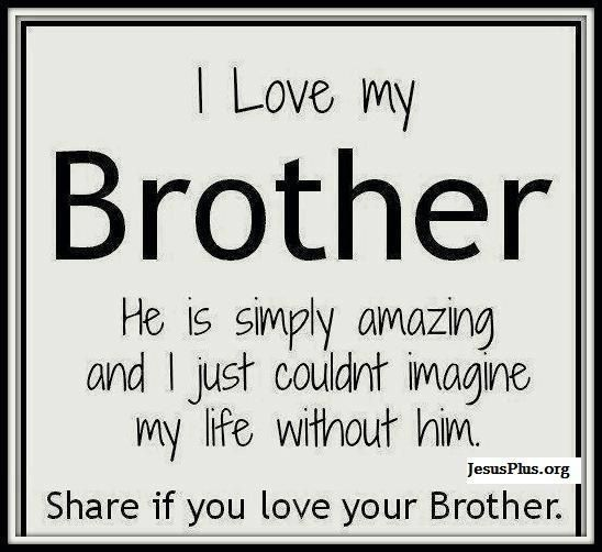 Quotes About Love For Your Brothers : I Love My Brother Life Quotes Facts  Jesus