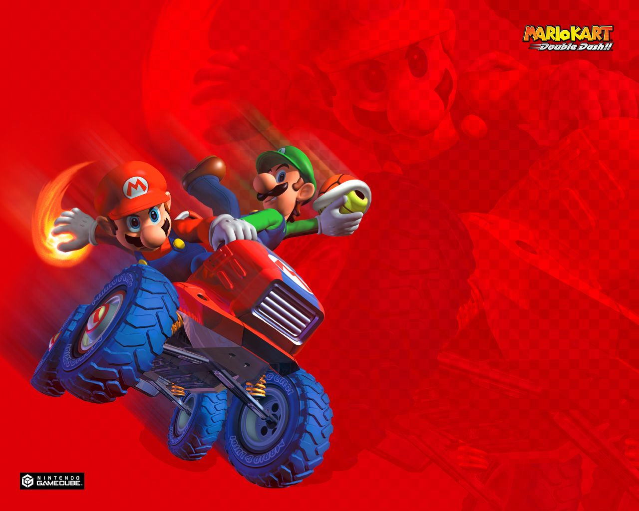 Mario Kart Double Dash Nintendo Gamecube 1280x1024 Wallpaper With Images Mario Kart Mario Mario And Luigi