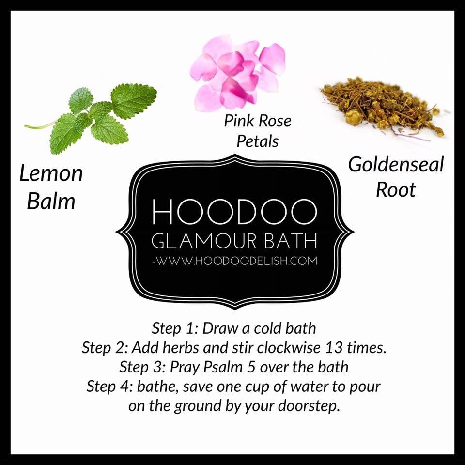 Hoodoo glamour bath | Magickal Herbs&Oils | Hoodoo spells, Voodoo