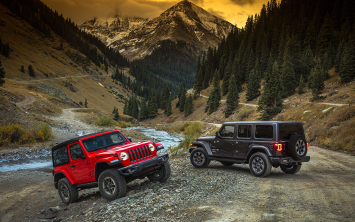 Download Wallpapers Jeep Wrangler Offroad 2018 Cars New Wrangler Suvs Motion Blur Jeep Besthqwallpapers Com Jeep Wrangler Jeep Wrangler