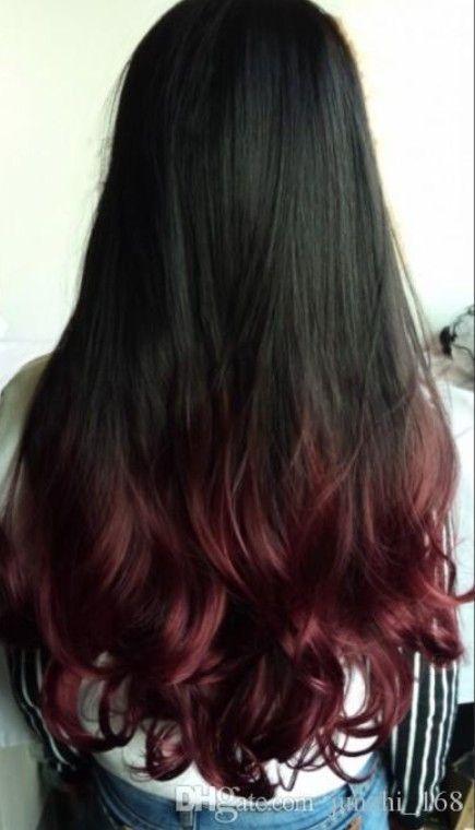 Red Marun Highlighted Hairs Hair Color For Black Hair Black Hair Ombre Hair Streaks