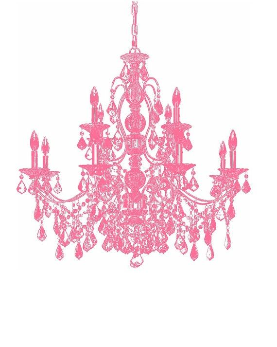 Bubblegum Pink Chandelier 8x10 Print Digital By Spunkybinky