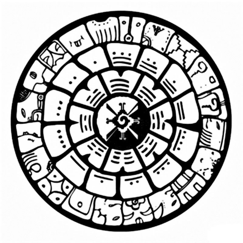 Calendario maya para colorear | Sociales | Pinterest | Colorear ...