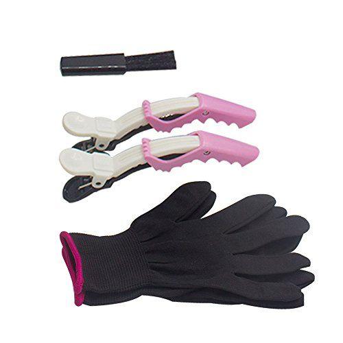Heat Resistant Gloves Plus Hair Clip Kit Flat Iron Hair Styles Hair Brush Hair Straighteners Flat Irons