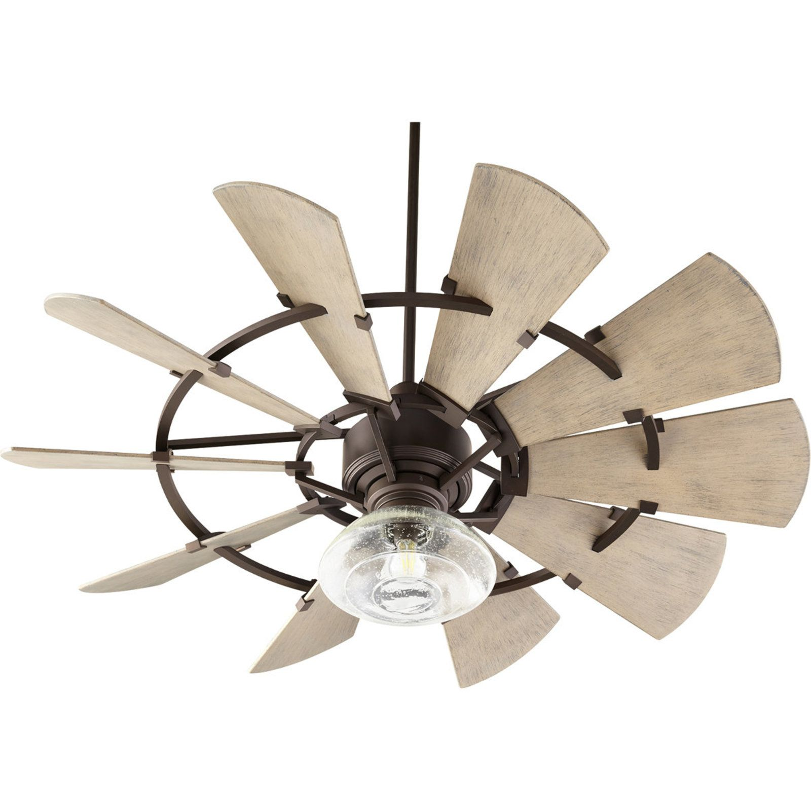 "52"" Outdoor Rustic Windmill Ceiling Fan Family room in"