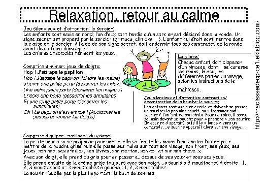 Retour Au Calme Le Calme Calme Projet De Classe