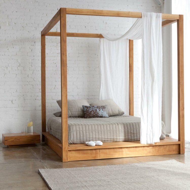 lit baldaquin pour une chambre de deco