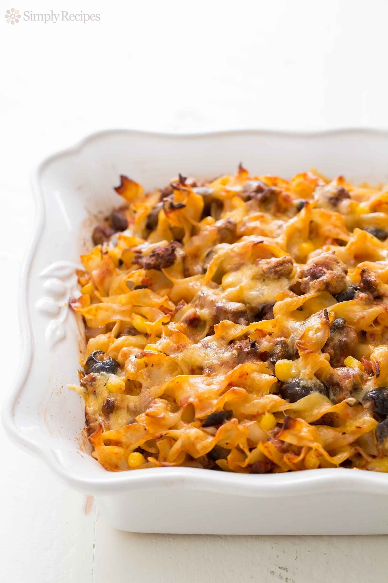 Beef Noodle Casserole Recipe Simplyrecipes Com Recipe Beef Noodle Casserole Noodle Casserole Recipes Noodle Casserole