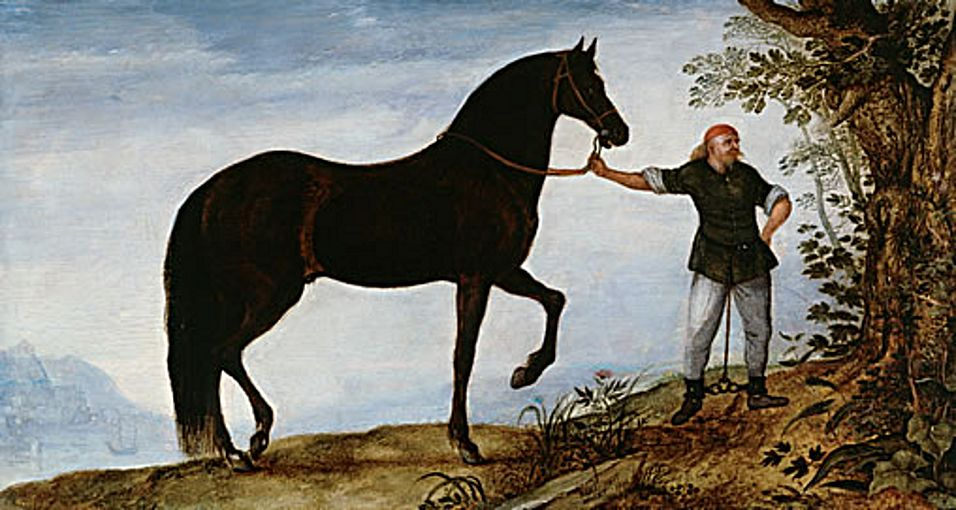 Black stable hand