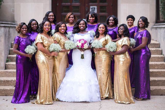 Royal Purple Gold Wedding In Washington Dc Kelechi Maurice