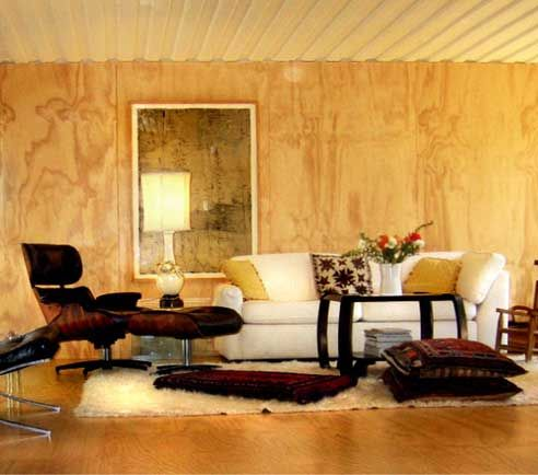 Plywood used as decorative wall panels to compliment floor and ...