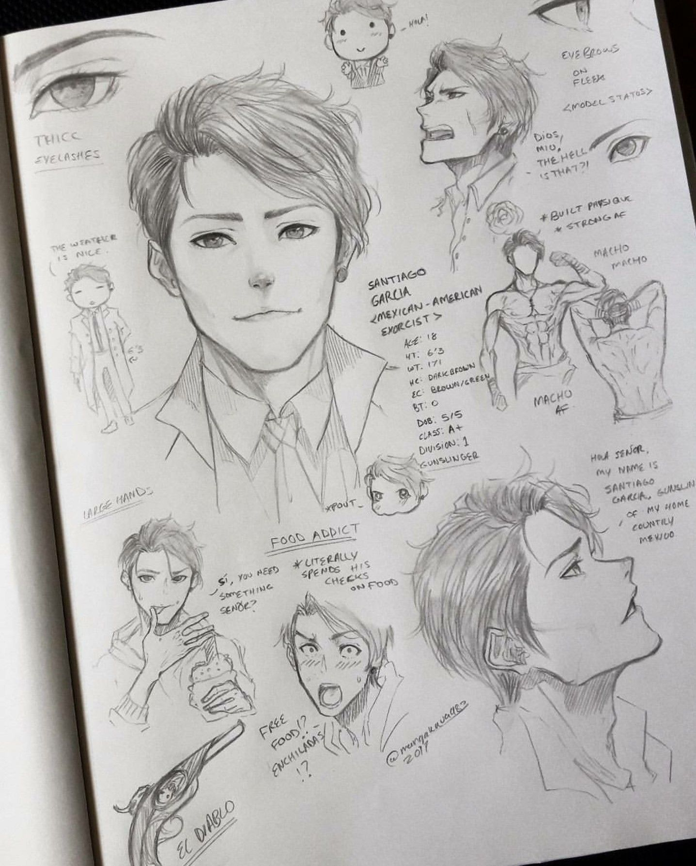 Creating A Male Character Artist Mangakaua983 Anime Sketch Art Sketches Illustration Character Design