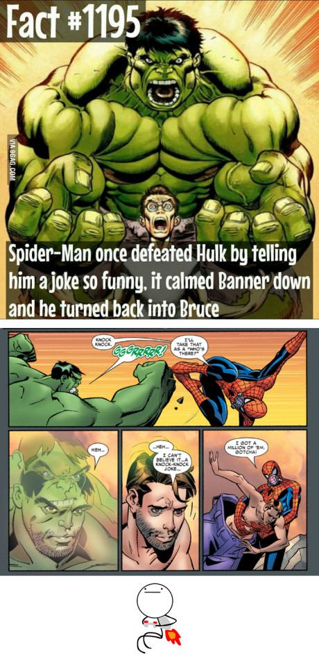6d3dd059d Saw a post looking for the joke. Here it is. Spiderman vs Hulk ...
