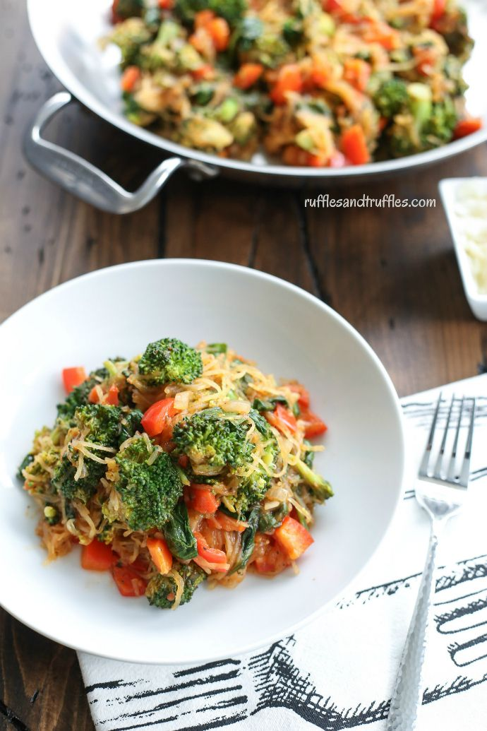 Sicilian Spaghetti Squash With Vegetables