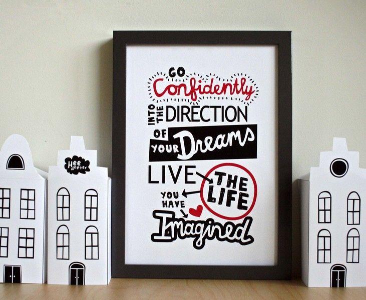Illustratie - Go confidently into the direction... van Heedopter op DaWanda.com