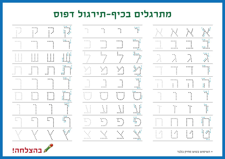 לימוד אותיות בעברית אורינות Learn Hebrew Biblical