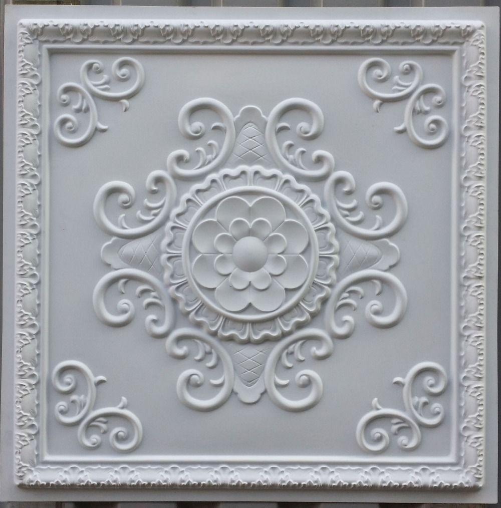 Aliexpress.com : Buy PL08 faux tin ceiling tiles white matt color ...