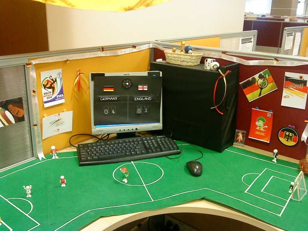 fifa germany footbal office cubicle decoration | april | pinterest