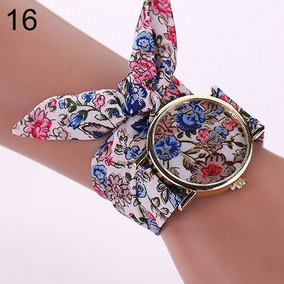 Womens-Geneva-Flower-Star-Bow-Wristwatch-Scarf-Band-Party-Casual-Typical-Watch