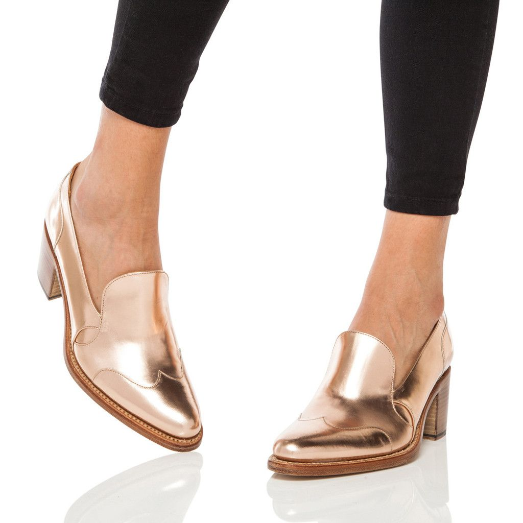 d8e56528293 Beautiful Rose Gold Womens Loafer