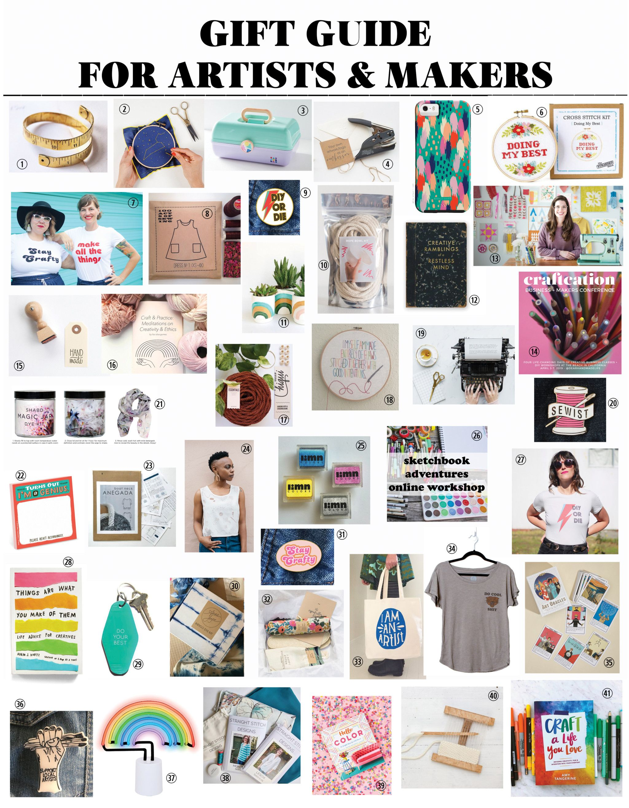 Gift Guide For Artists Makers Creatives Crafters DIYers From Dear Handmade Life
