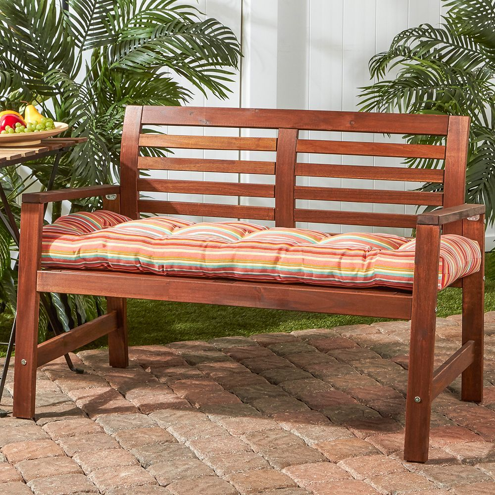 Greendale Home Fashions 51 In Outdoor Bench Cushion Porch Swing